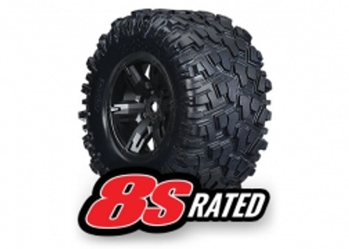 Traxxas 7772X X-Maxx Pre-Mounted Tires & Wheels (2) (8S Rated)