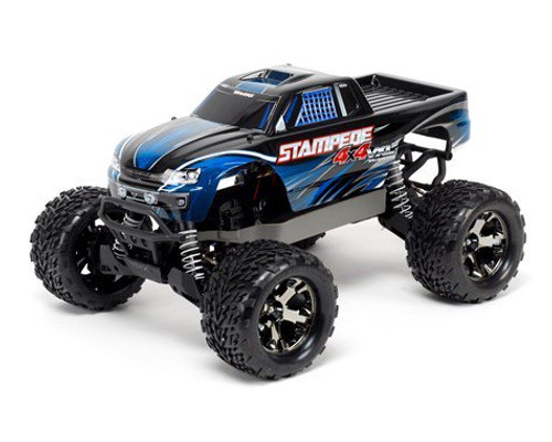 Traxxas 670864T1 Stampede 4X4 VXL Brushless 1/10 4WD RTR Monster Truck (Blue)