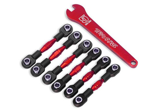 Traxxas 8341R Red Aluminum Turnbuckle Set