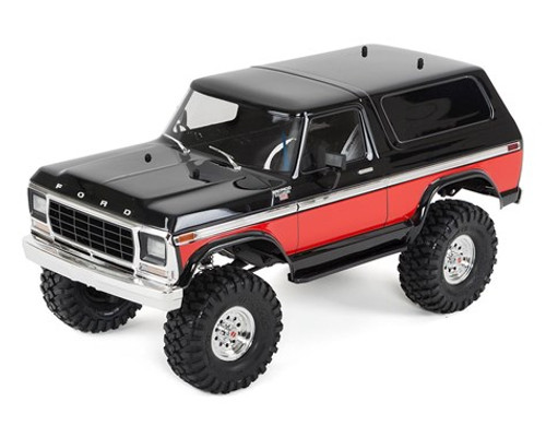 Traxxas 820464 TRX-4 1/10 Trail Crawler Truck w/'79 Bronco Ranger XLT Body (Red)