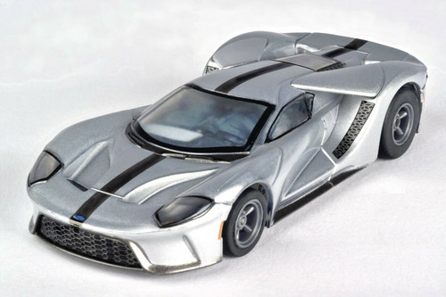 AFX 22012 Silver/Black Ford GT Mega G+ HO Slot Car