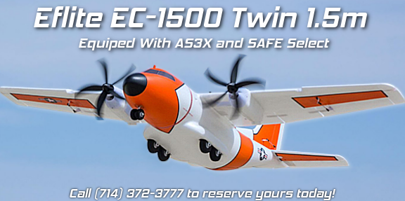 NEW Eflite EC-1500 Twin 1.5m BNF Basic