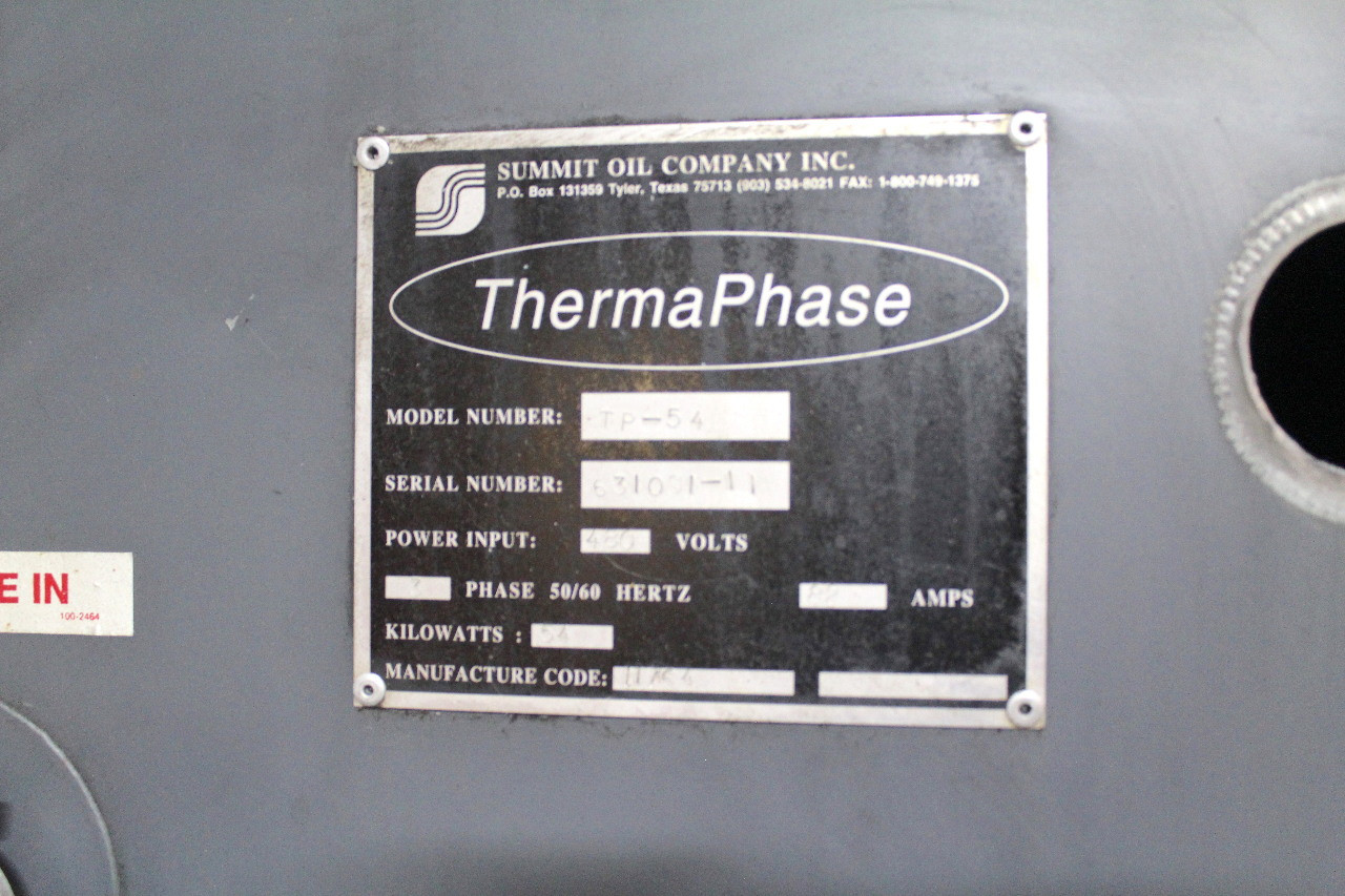 Summit Thermaphase Electric Vaporization Oil Water Separator TP-54 Condensate