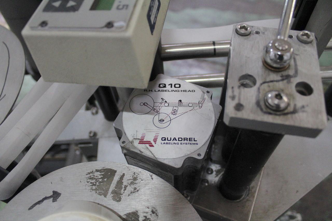 Quadrel Q10 Microprocessor Control Label Applicator 120V Lion LRD2100 & Stand