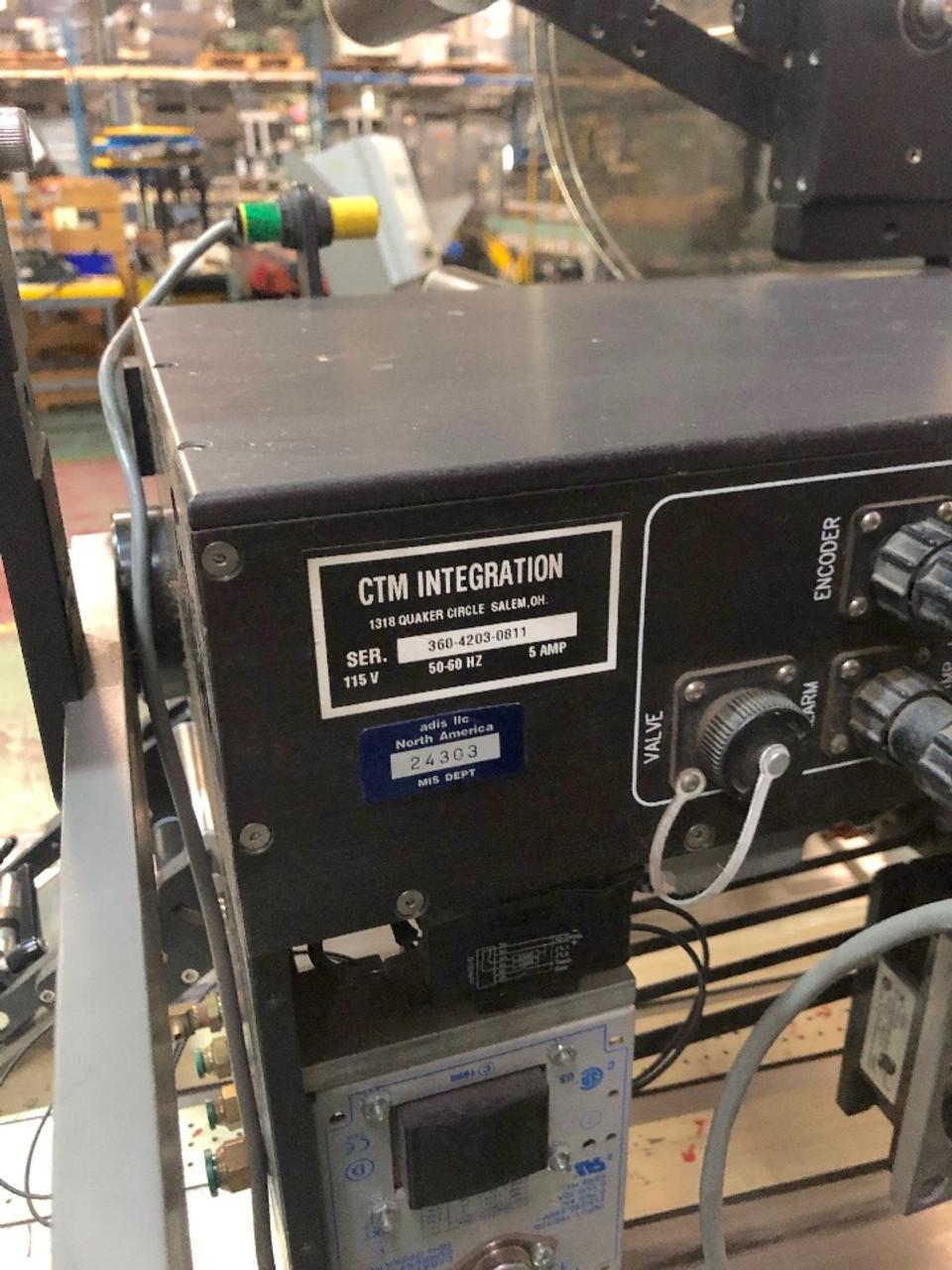 VideoJet Cheshire 7000 Friction Feeder Vacuum Table CTM 360 Label Applicator