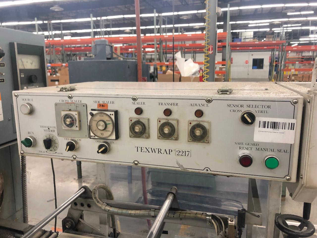 Texwrap Automatic L-Bar Sealer Flow Wrapper w/ Shanklin T-7XL Heat Tunnel