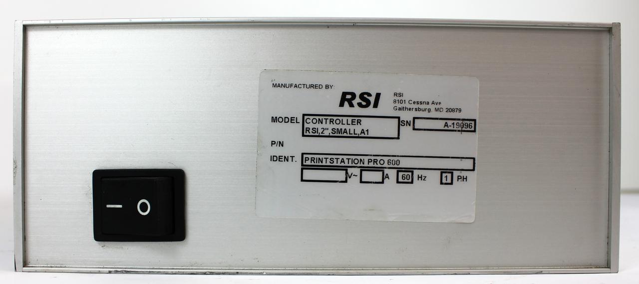 RSI Controller Print Station Pro 600 60 Hz 1 Ph
