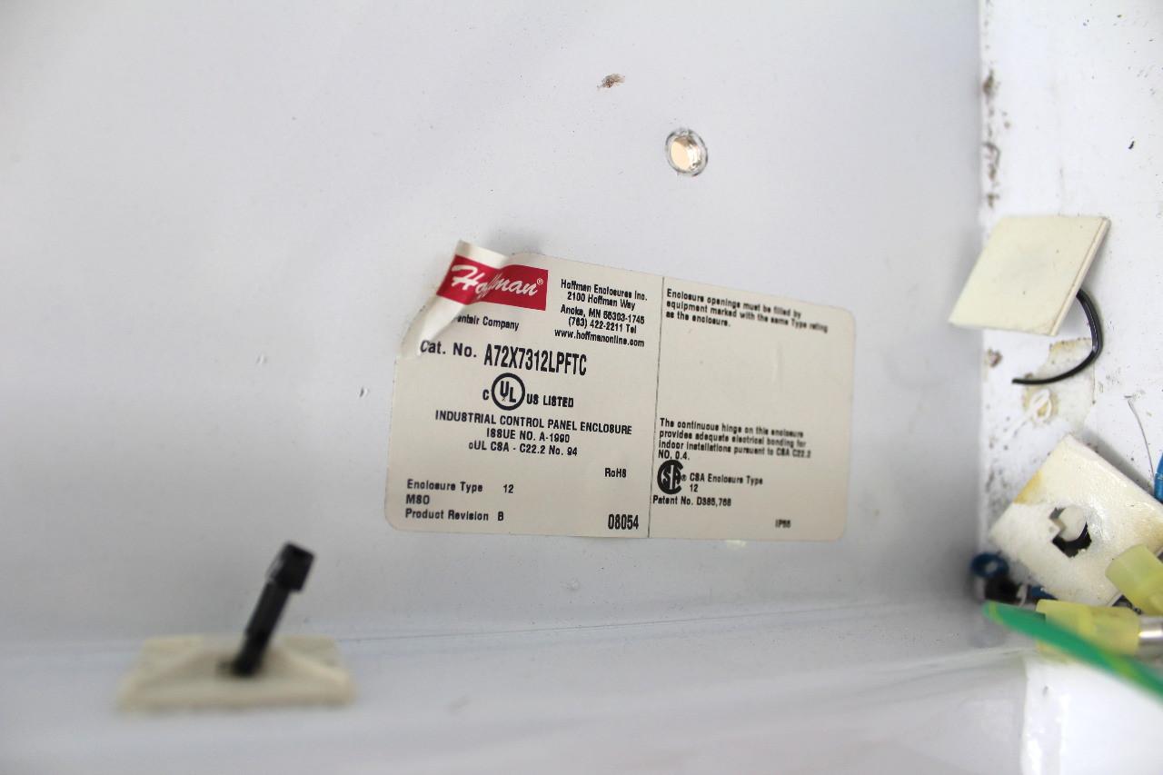 "Hoffman A72X7312LPFTC Free Standing Electrical Enclosure 72"" T x 74"" L x 12"" D"