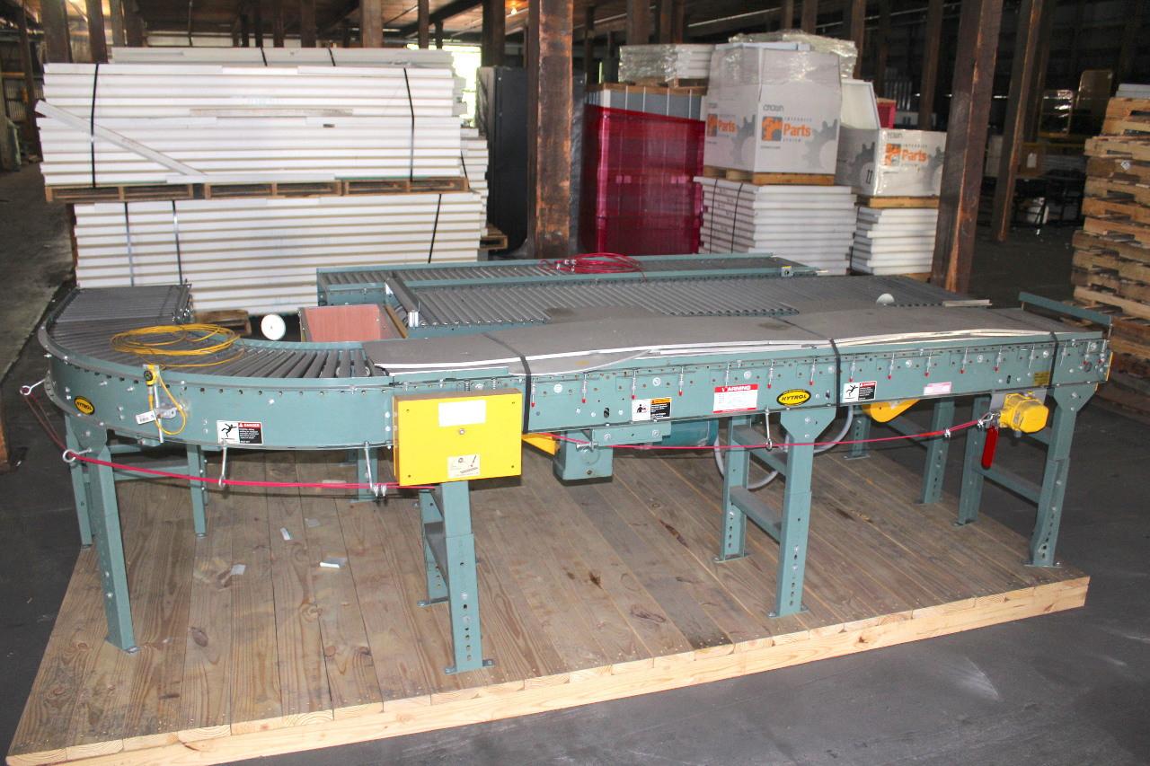 """Hytrol Roller Conveyor 16"""" w x 30' L with EZLogic Controls 208-460Vac"""