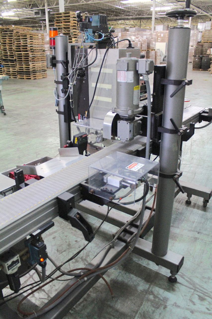 CTM 3600-PA Label Applicator with Tamper 10' Conveyor Sato M-8490Se Printer