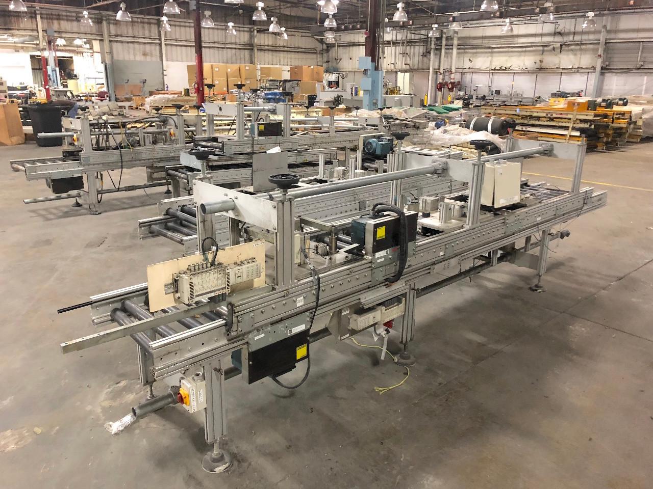 "Logomat Powered Roller Conveyor 20"" Wide x 150' Linear Feet Sew Eurodrive Motor"