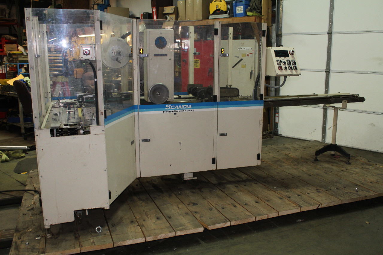 Scandia 626 Folded Film Overwrapper Flow Wrapper 120 PPM, 208Vac