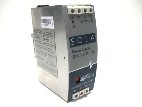 Sola SDN 2.5-24-100L Power Supply 115/230 Vac 24 Vdc