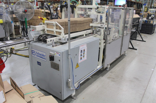 Schneider Horizontal Case Packer HCP-5V1P Nordson Hot Melt Glue 33 CPM