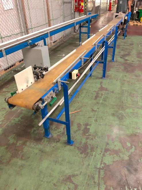 Dorner Style 7.5 In x 16 Ft Long Belt Conveyor 0.12Kw Gearmotor 220-460Vac