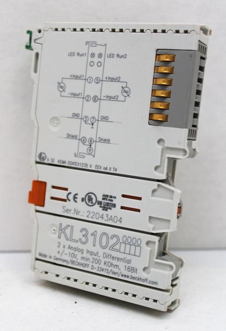 Beckhoff KL 3102 Digital Input Module, 2-Channel