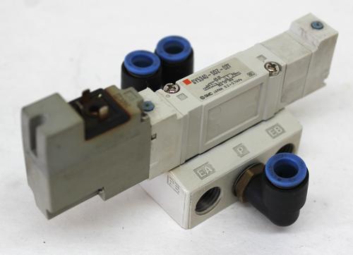 SMC SY5240-5DZ-02T Pneumatic Double Valve, 24V, 0.1 ~ 0.7MPa