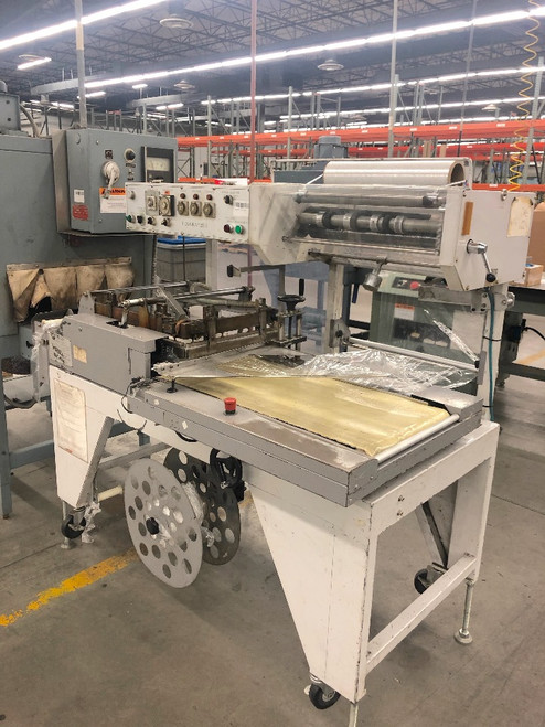 Texwrap Automatic L-Bar Sealer Flow Wrapper w/ Shanklin T-7XL Heat Tunnel