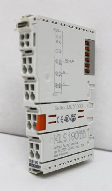 Beckhoff KL9100 Voltage Supply Terminal 24 VDC