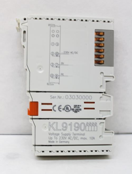 Beckhoff KL9190 Voltage Supply Terminal, 230V AC/DC