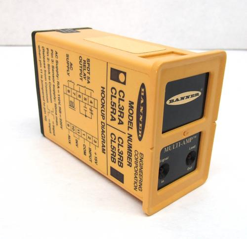 Banner CL3RA Multi-Amp Logic-Level Input Module, 105-130VAC / 12-28VDC