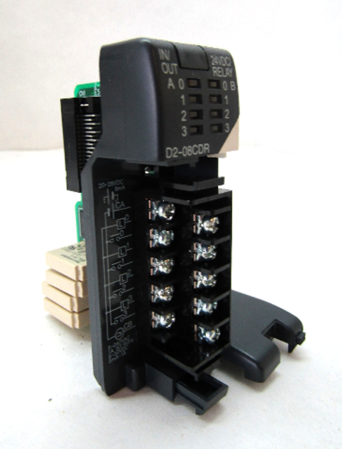 Automation Direct D2-08CDR Relay Input/Output Module, 5-30VDC