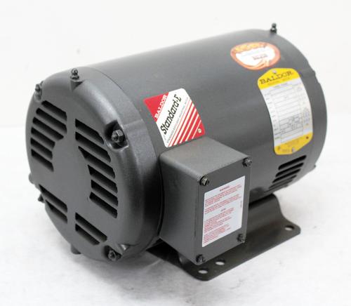 Baldor M3218T Electric Motor, 5HP, 3PH, 208-230/460V, 1750RPM, 184T, New