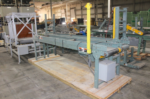 """Hytrol 40' Long x 12"""" Wide Belt Conveyor w/ Automation Direct Speed Control 120V"""