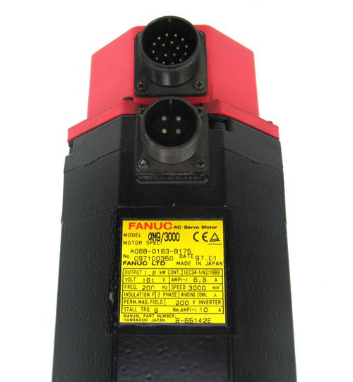 Fanuc A06B-0143-B675 AC Servo Motor 200V 12A 3000r/min 2.8Kw 3 Phase a12/3000