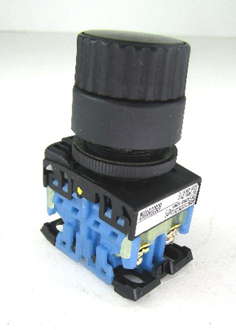 Fuji AR22S2R Black Push Button Selector Switch