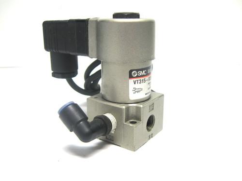 Smc VT315-025DLS Solenoid Valve 24 Vdc, 3 Port