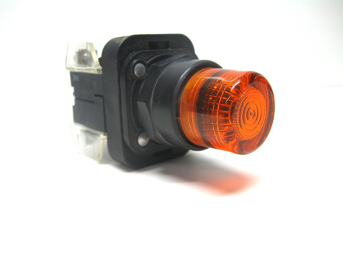 Allen Bradley 800H-QRB24A Momentary Amber Illuminated Pushbutton 24 Vac/Vdc