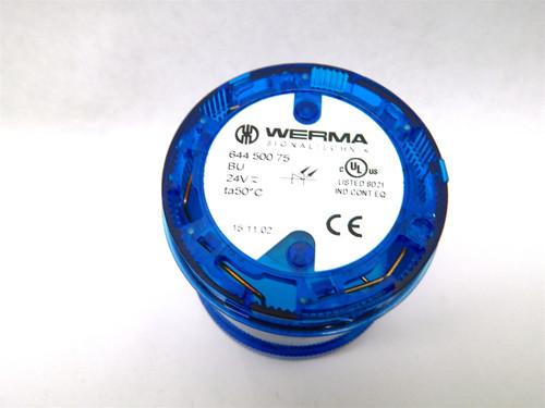 Werma Signaltechnik 644 500 75 LED Blue Permanent Light Element Stack Light 24V