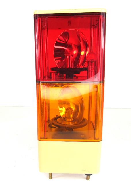 Patlite KJ Cube Tower Rotating Red/Amber 24 Vdc/0.5a