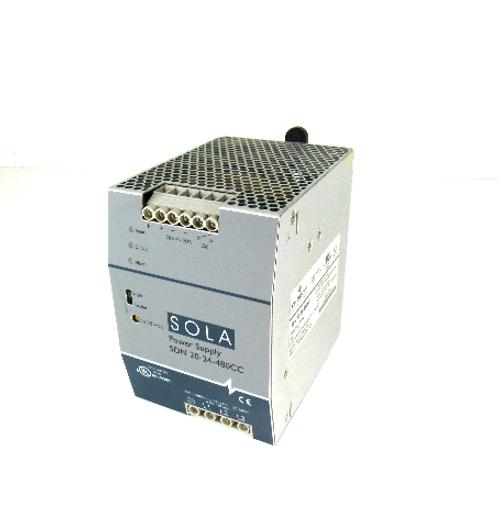 Emerson Industrial Automation SDN 20-24-480CC SOLA Power Supply, 380~480V, 3W, 24~28V DC, 50/60Hz