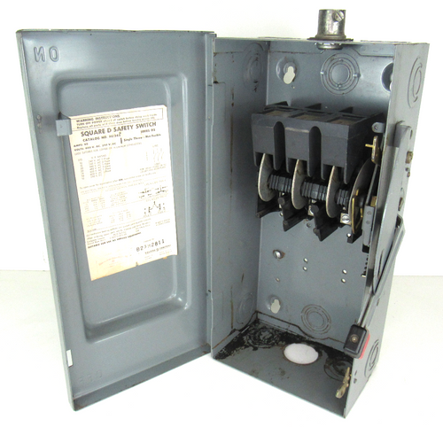 Square D HU362 Heavy Duty Safety Switch 60 Amp 600V Non-Fused 3 Pole