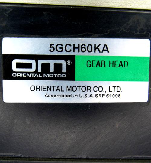 Oriental Motor 5IK90GU-AW-CB1 Induction Motor w/ CBI590-801W Clutch & Brake Motor w/ 5GCH60KA Gear Head