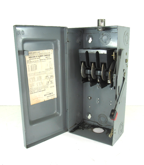 Square D HU362RB Heavy Duty Safety Switch 60 Amp 600V Rainproof Non-Fused 3 Pole