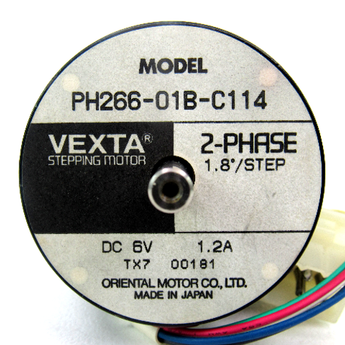 Oriental Motor PH266-01B-C114 VEXTA Stepping Motor, 2-Phase, 6V DC, 1.2 Amp
