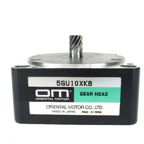 Oriental Motor 5GU10XKB Parallel Shaft Gear Head, 10:1 Ratio, NEW