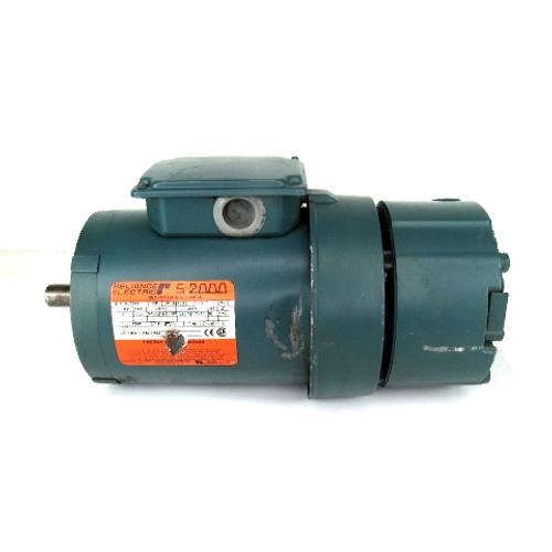 Reliance Electric P14H7206N AC Motor, 3-Phase, 1HP, 1725RPM, 208-230/460-480V w/ Dodge 031395 Motor Brake, 6LB Torque, 208~480V AC, 230V DC