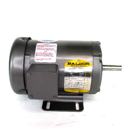 Baldor M3542 Industrial Motor, 3-Phase, .75 HP, 208-230/460V, 3.2-3/1.5 Amps, 60Hz, TEFC