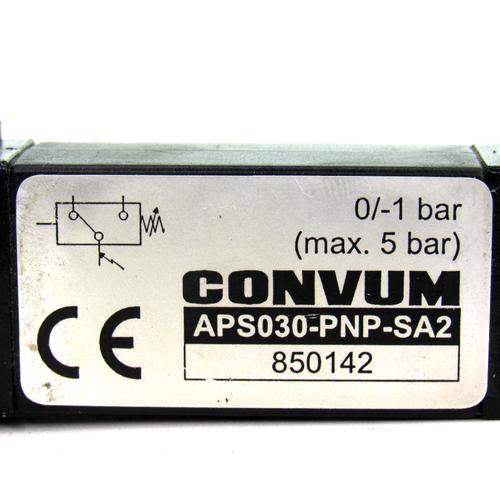 Convum APS030-PNP-SA2 Vacuum Switch, 5 Bar Max, 75.5 PSI