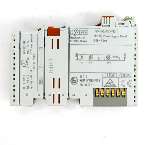 Wago 750-601 Power Supply (Fuse) Module, 24V DC, 0~55° C Operating Temp