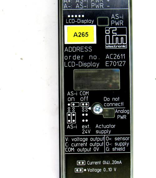 IFM AC2611 Analog AS-I Module, 0~10V, 24C, 20mA