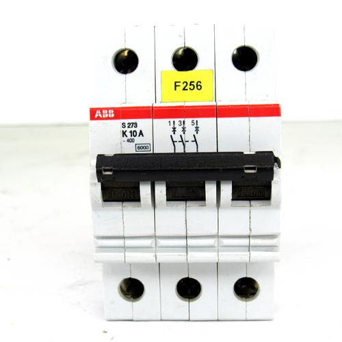 ABB S273 K10A Circuit Breaker, 3-Pole, 277/480V AC