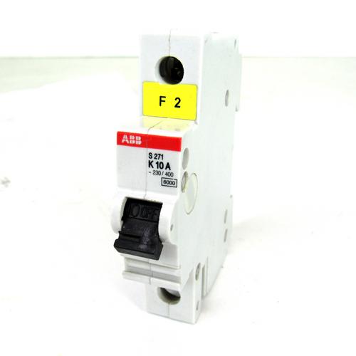 ABB S271 K10A Circuit Breaker, 10 Amp, 1-Pole, 277/480V AC