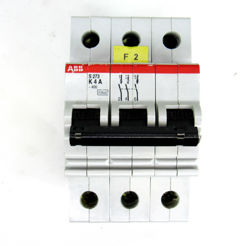 ABB S273 K4A Circuit Breaker, 4 Amp, 3-Pole, 400V AC