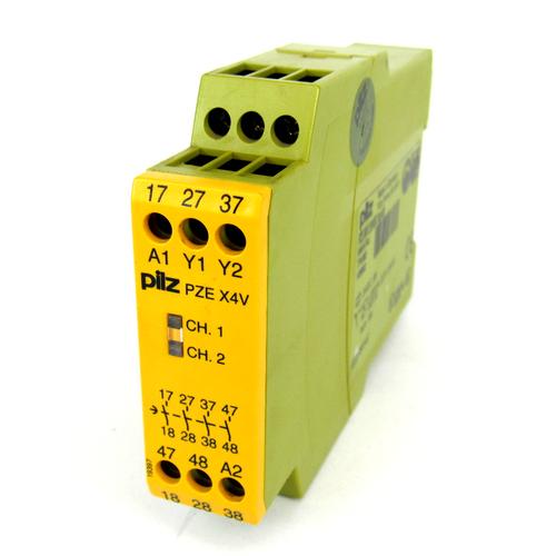 Pilz PZE X4V 2/24VDC 4n/o fix Safety Relay, 24V DC, 2 W