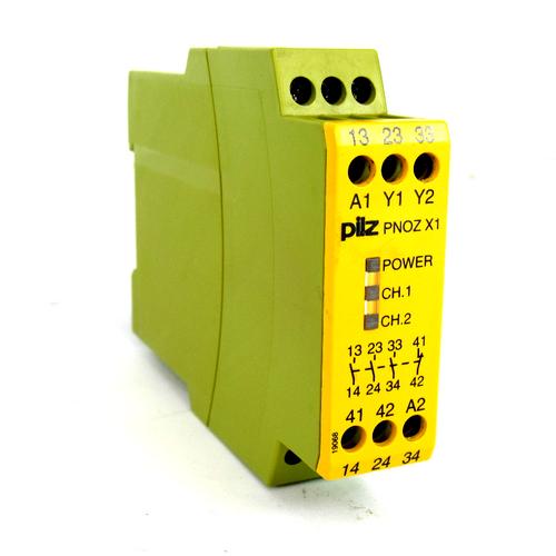 Pilz PNOZ X1 24VAC/DC 3n/o 1n/c Safety Relay, 24V AC/DC, 2W, 5 A
